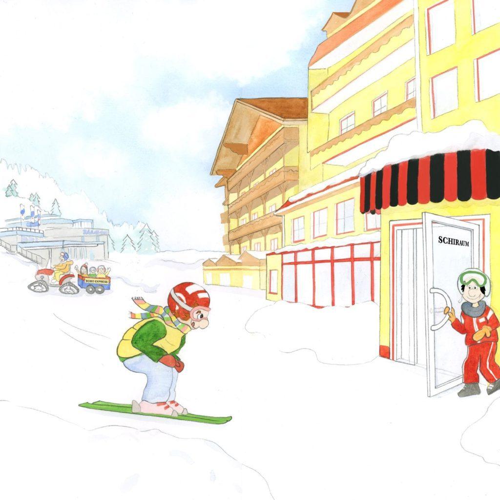 Xaver Wuschelkovsky Skifahren Hotel